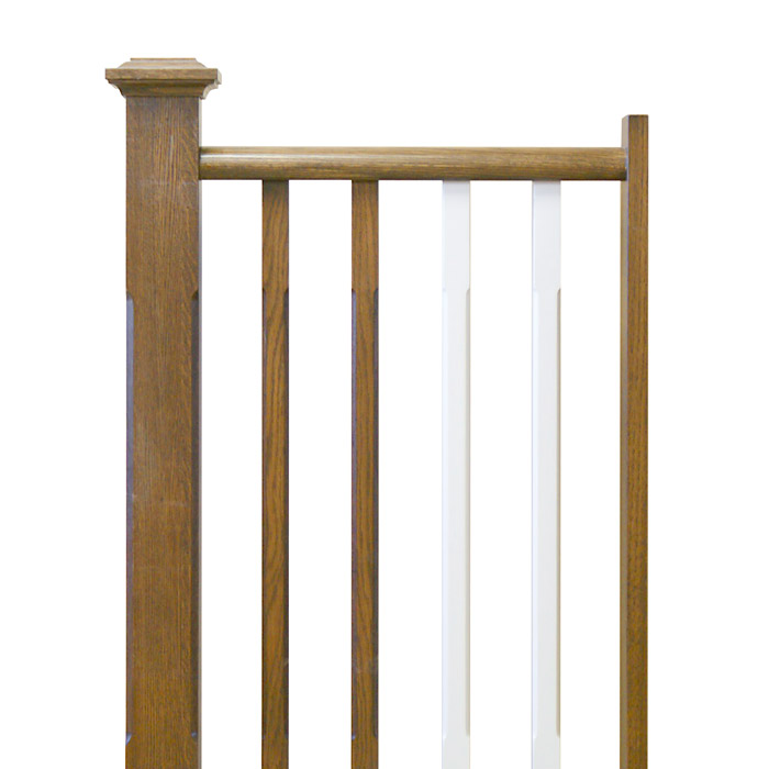 Chamfered Edge Square Newels and Balusters