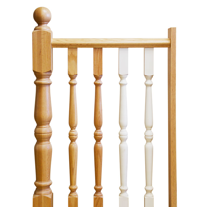 Colonial Newel Post and Balusters